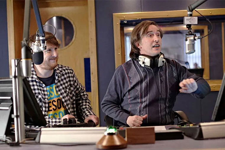 Tim Key and Steve Coogan (right), who has put in 20 years as blowhard DJ Alan Partridge. (Magnolia Pictures)