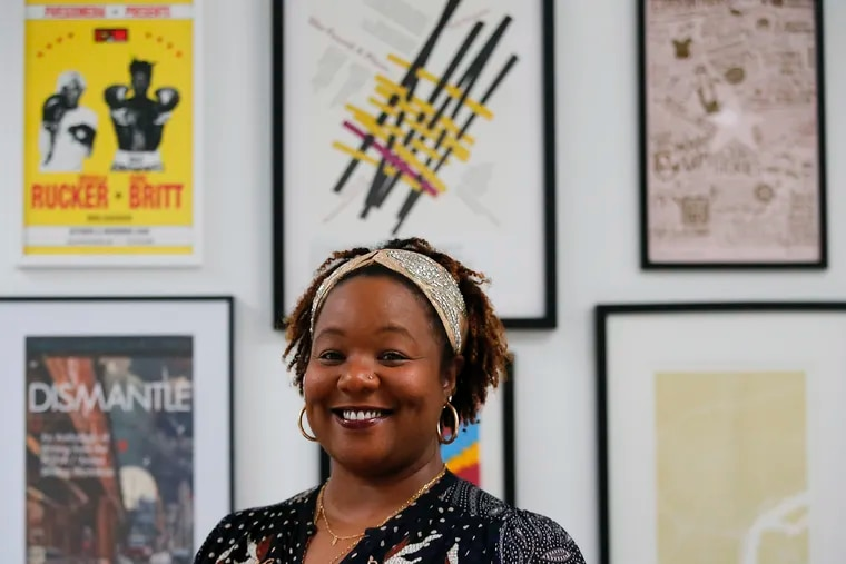 BlackStar Film Festival founder Maori Karmael Holmes at her Philadelphia home in December 2020. The festival is celebrating its 10th anniversary Aug. 4-8 this year.