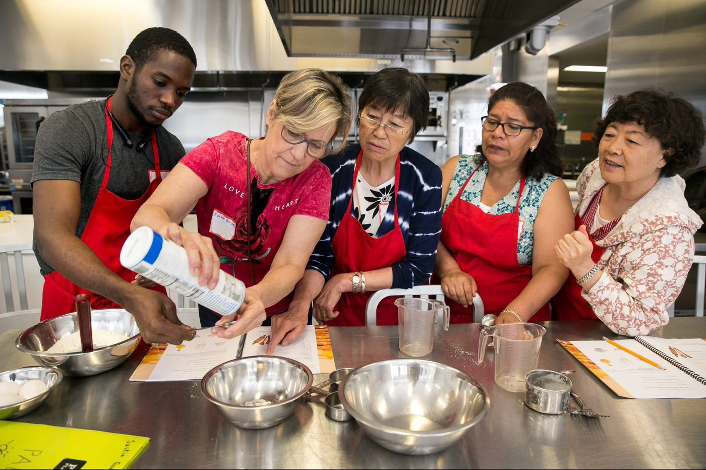 For these immigrants, flipping pancakes and learning English go hand-in-hand