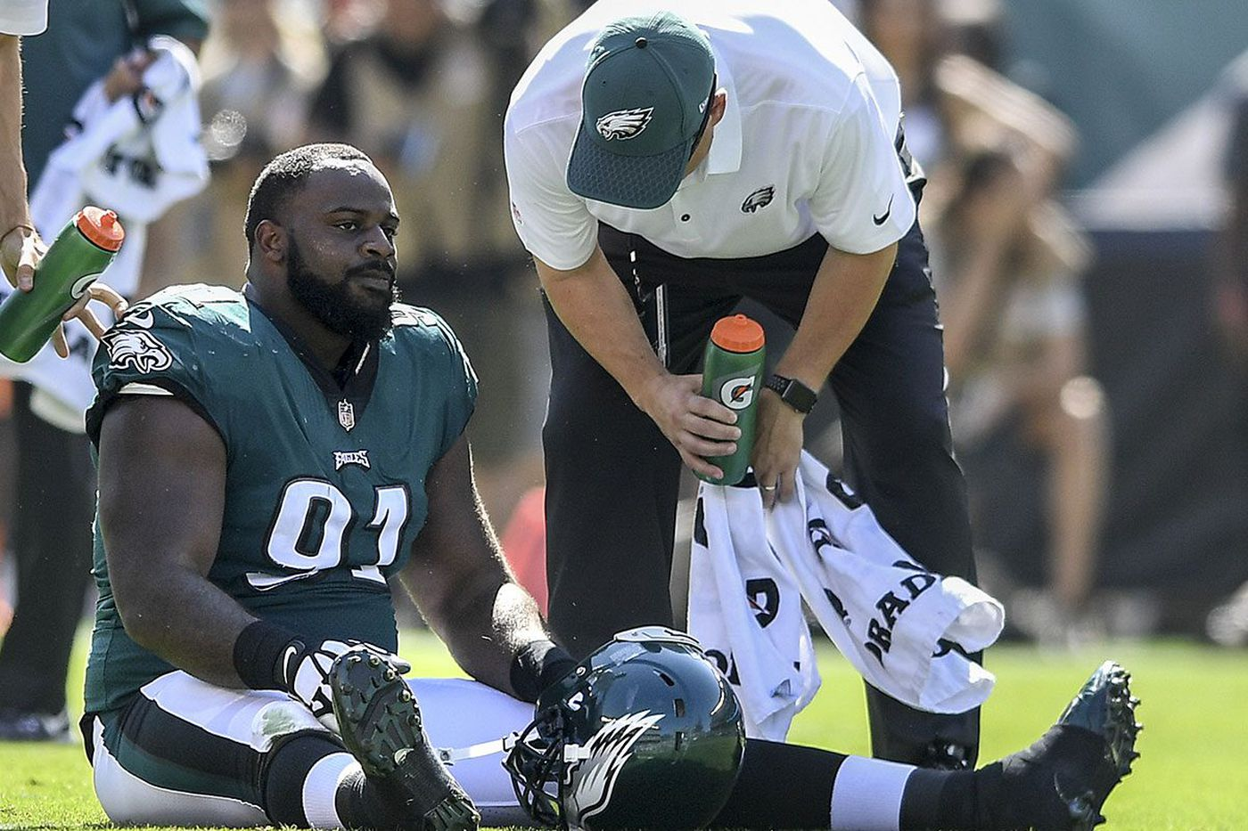 Don't look for Fletcher Cox in Eagles' lineup this week, and probably not next week, either