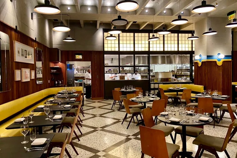 Dining room atmosphere at Dolce Italian, beside the W Philadelphia, is intended to evoke the 1960s.