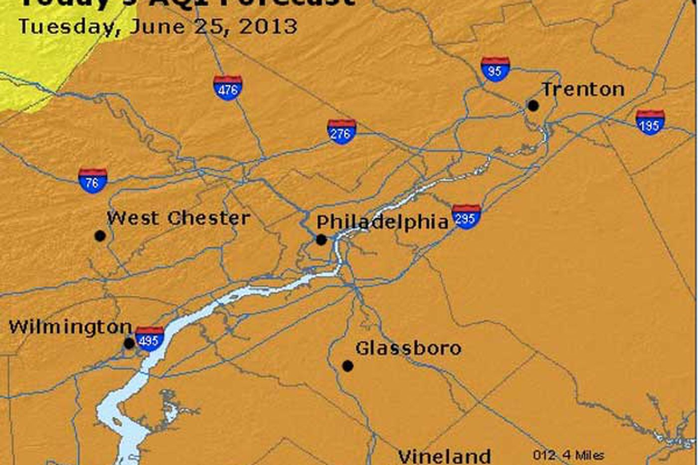 Air quality alert issued for Philly area; more heat, humidity on the way