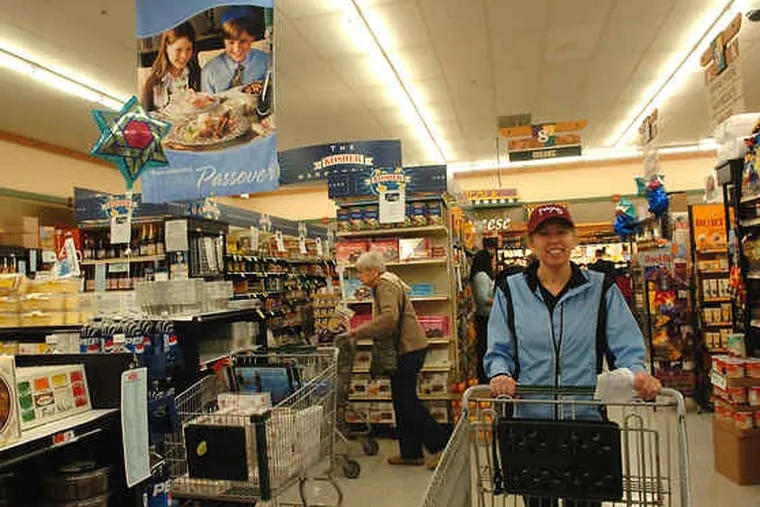 Joan Denenberg of Wynnewood at Acme in Narberth. Supermarkets are extra vulnerable to the gross-receipts tax.