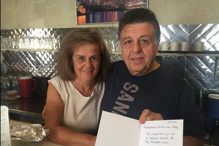 After nearly 40 years of working in diners together, Nick and Stella Mitoulis, owners of Sandy's Restaurant in Fitler Square, hung up their aprons for good.