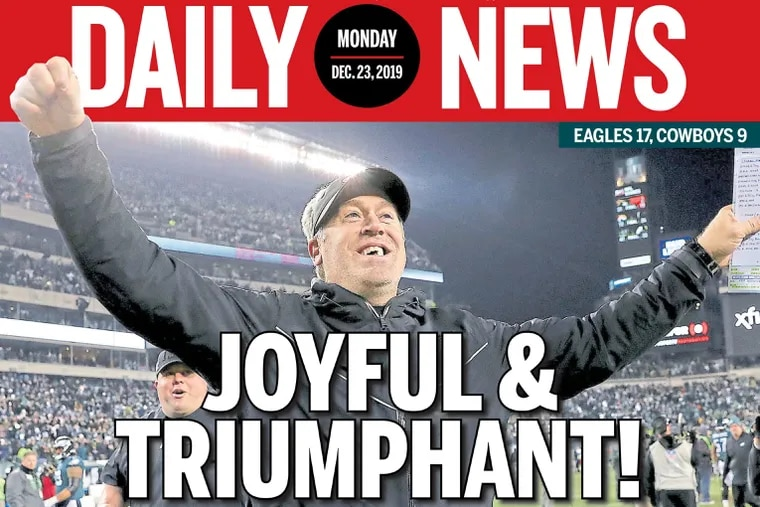 The Daily News front page of Monday, Dec. 23, 2019.