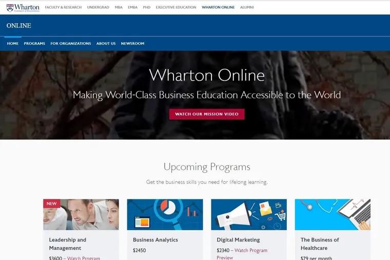 Wharton's online buisness page.