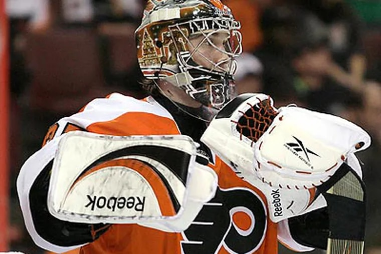 Sergei Bobrovsky's 14 wins are third-best in the NHL this season. (Yong Kim/Staff file photo)