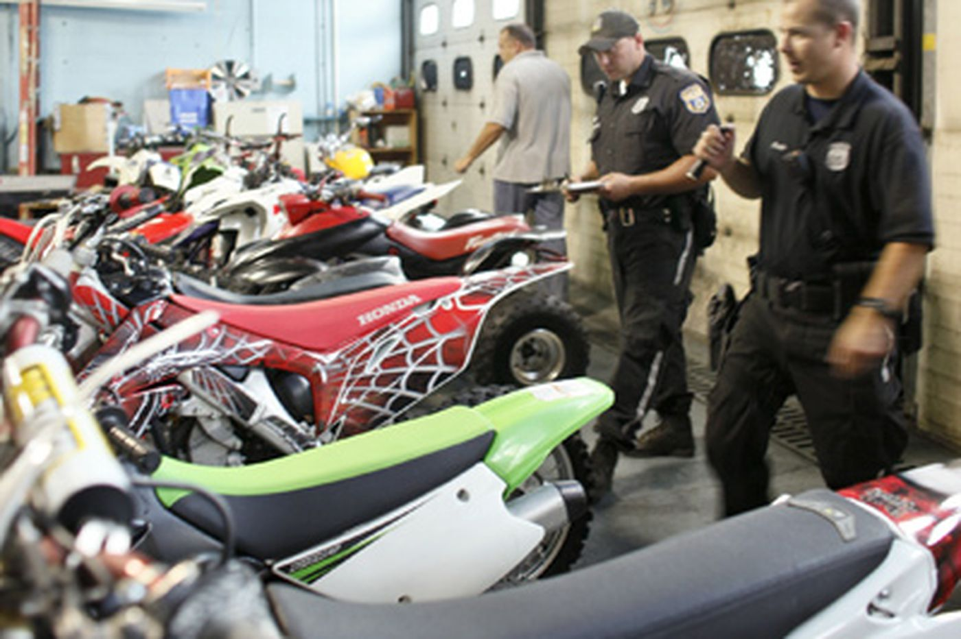 Philly cops seize illegal ATVs, dirt bikes