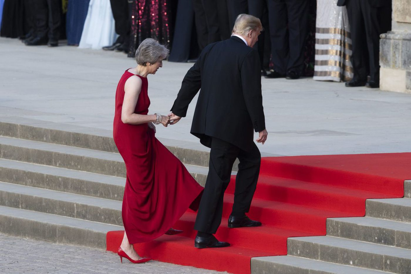 Trump blasts May in interview published during his first official visit to Britain