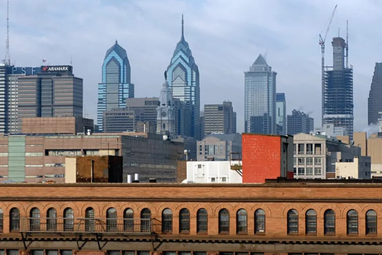 Two years ago, One Liberty Place was still the tallest building in Philadelphia, with Two Liberty Place runner-up. But construction was underway on the Comcast Center (right), which eventually eclipsed them greatly.