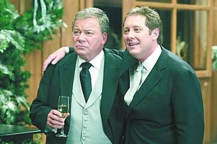 """The """"Boston Legal"""" bromance of William Shatner (left) and James Spader resulted in marriage."""