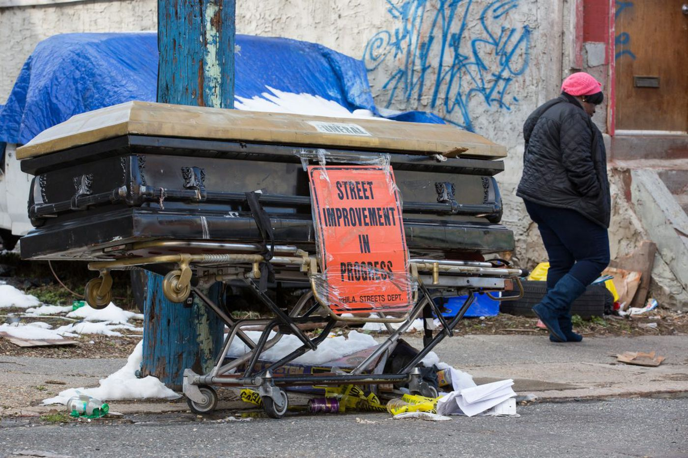 What the heck is a casket doing on a North Philly street?| Jenice Armstrong