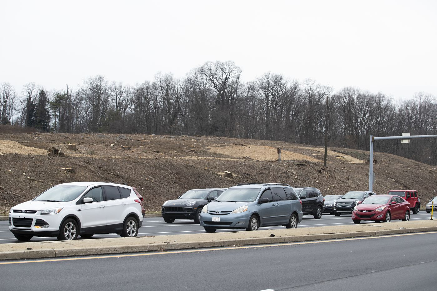 How an overgrown hill on a busy road stirred a Main Line controversy