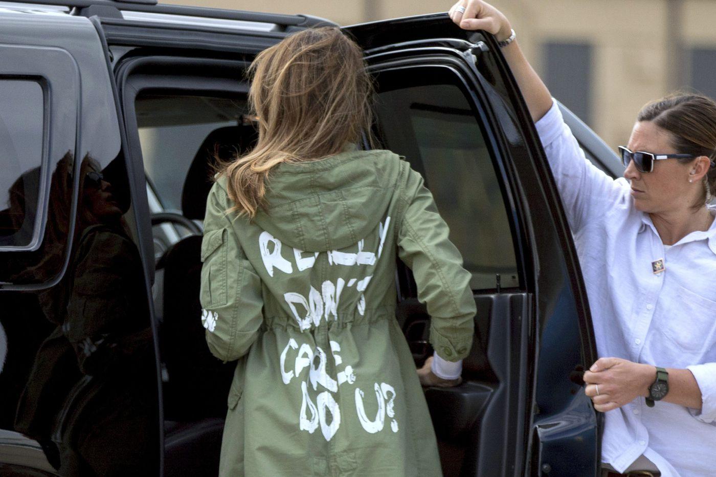 Melania Trump's jacket: Does she really think we don't see the symbolism? | Elizabeth Wellington