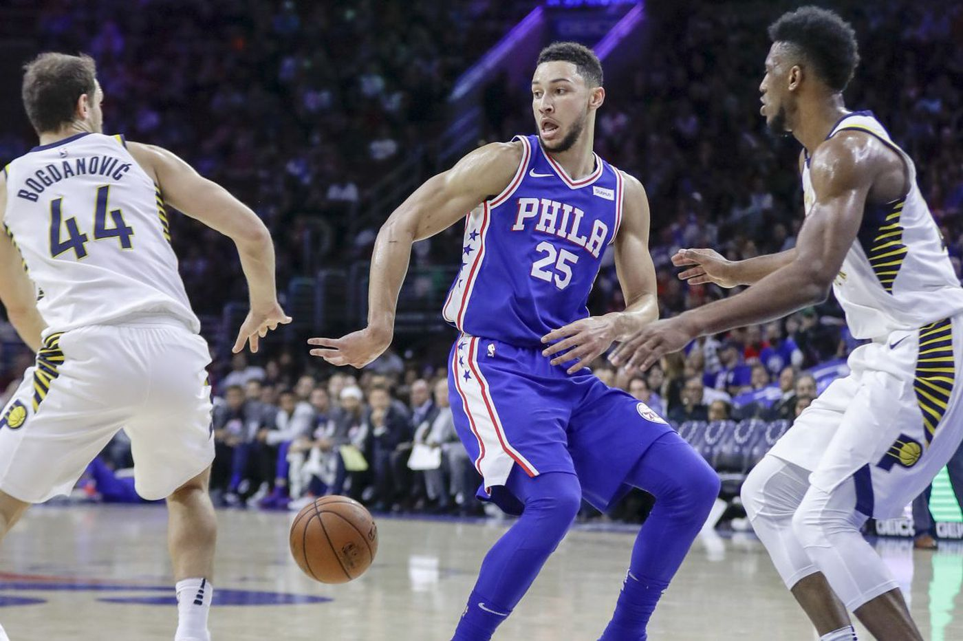 Sixers don't always need A-plus performance from their stars to win