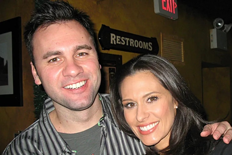 Power couple CBS3 anchor Alycia Lane and Q102 morning man Chris Booker attended a Toys for Toys for Tots event at Kildare's on Head House Square on Friday night.