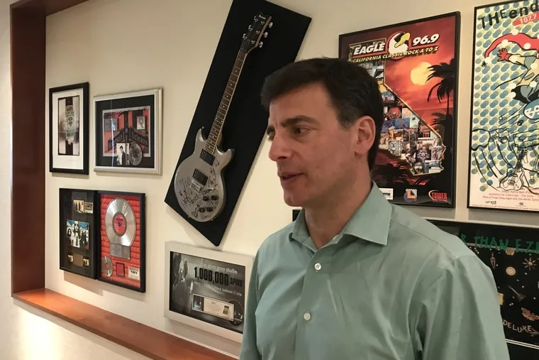 David Field, CEO of radio giant Entercom Communications, in his corporate headquarters in Bala Cynwyd in September 2018.