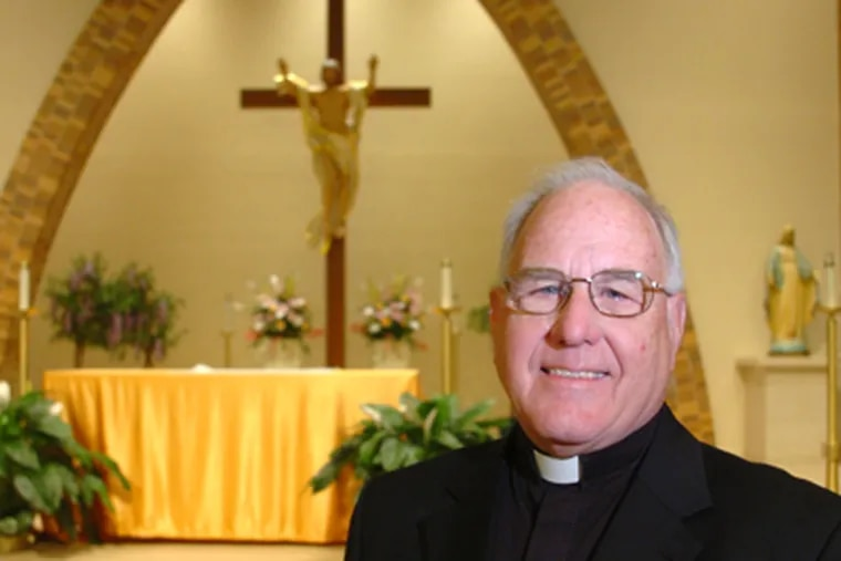 """Monsignor Robert McDermott, known as """"Msgr. Bob,"""" is also vicar general of the Camden Diocese. To serve """"in Camden as a Catholic priest is pure Gospel,"""" he says. (Clem Murray / Staff Photographer)"""