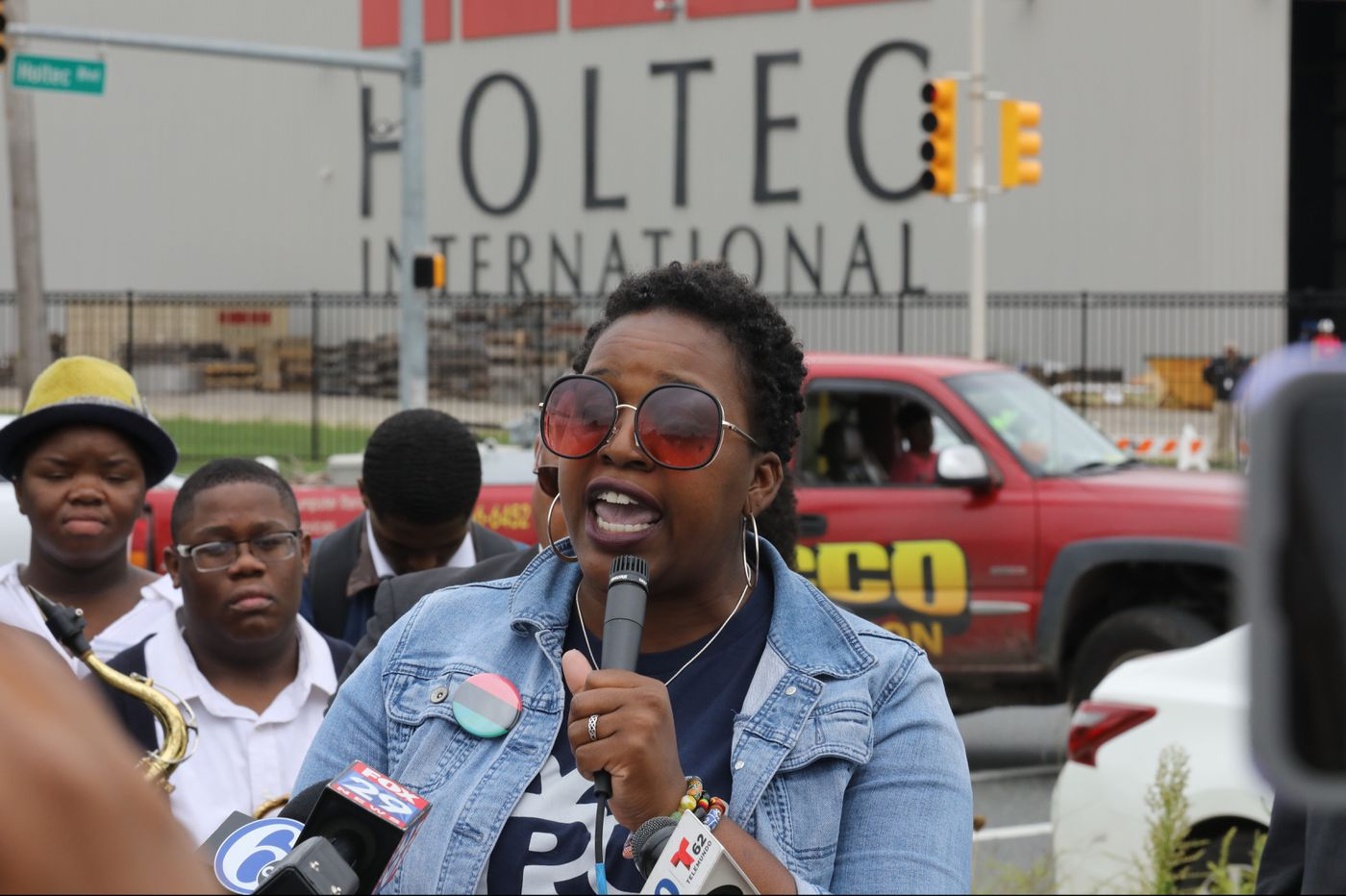 Protesters demand apology from Holtec CEO for calling Camden workers lazy
