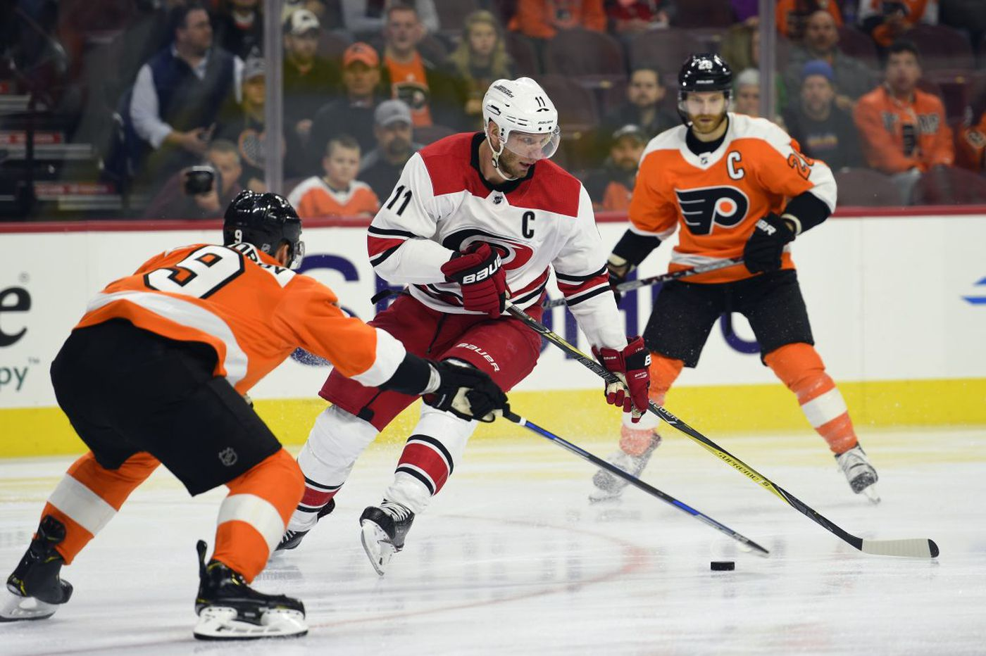 Flyers enter March like lambs, lose to the Hurricanes, 4-1