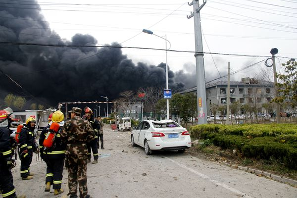 Dozens killed, scores injured in China chemical plant explosion