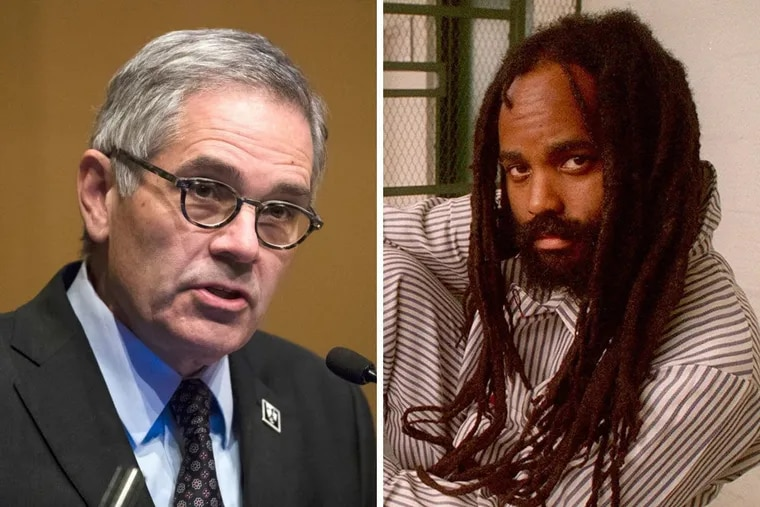 On Wednesday, April 17, 2019, Philadelphia District Attorney Larry Krasner (left) said that his office would drop its challenge of a judge's ruling in convicted cop-killer Mumia Abu-Jamal's (right) case, clearing the way for Abu-Jamal to again argue his appeal before the Pennsylvania Supreme Court.