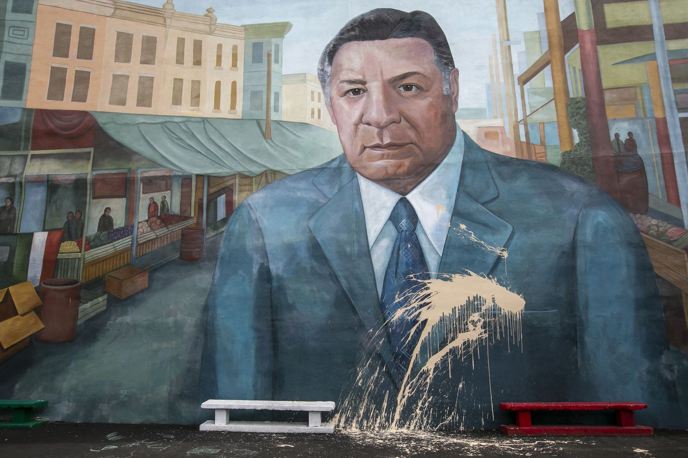 Italian Market says it's getting rid of the Frank Rizzo mural