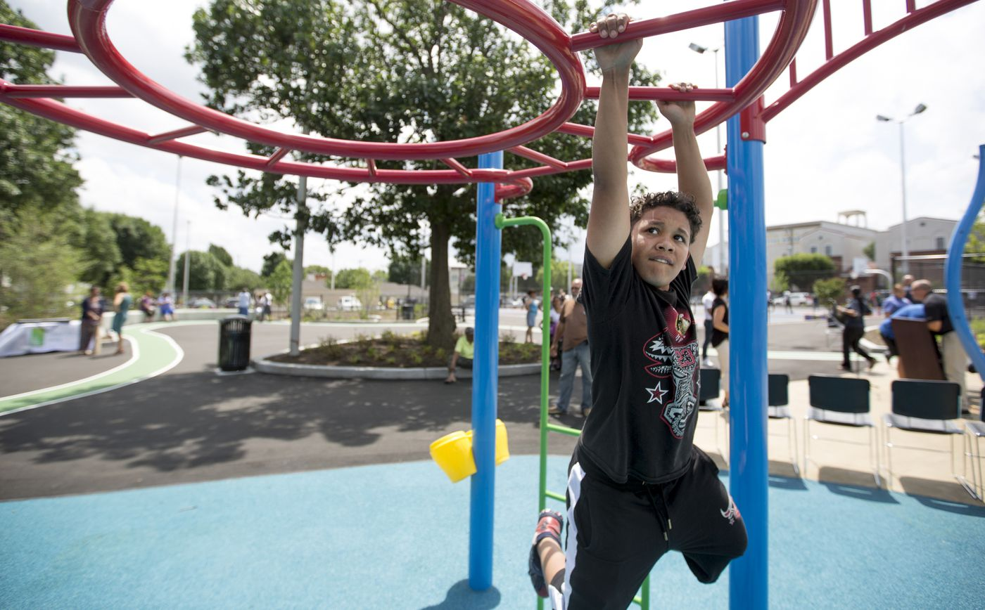 Officials celebrate six new playgrounds, pledge more to come