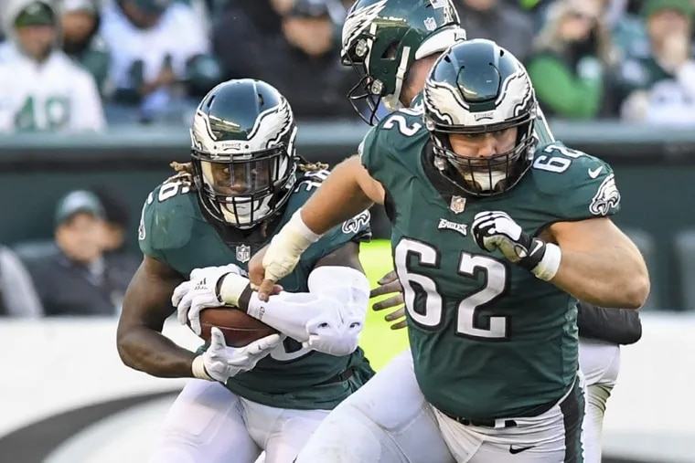 Eagles center Jason Kelce (right) was one of the Eagles' most notable Pro Bowl snubs.