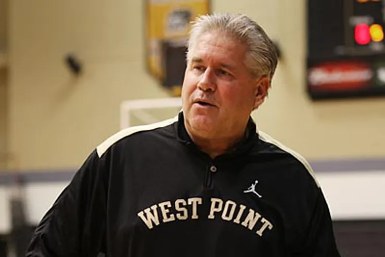 Dave Magarity coaches women's basketball at West Point. (Juliette Lynch/For the Inquirer)