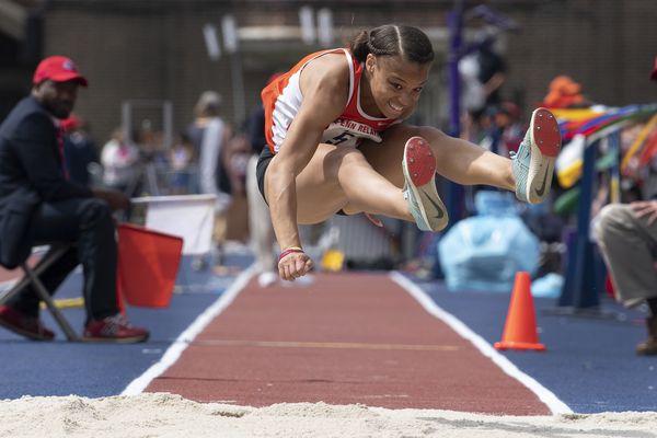Penn Relays: Perkiomen Valley's Christina Warren pulls off triple-jump three-peat