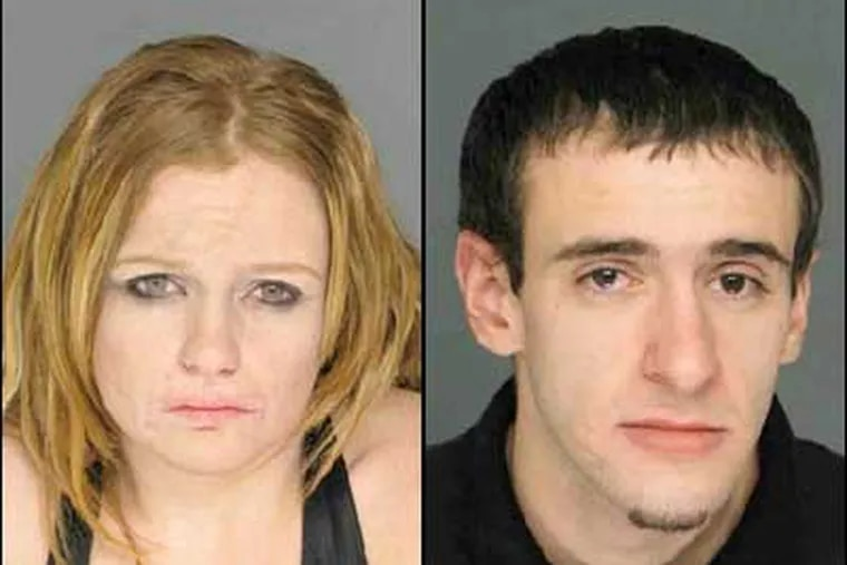 Police believe that Alexander Pirone, 21, right, and Catherine McGrath, 24, left, planned to hide in the restroom until after the building was locked up for the night so that they could burglarize the church.