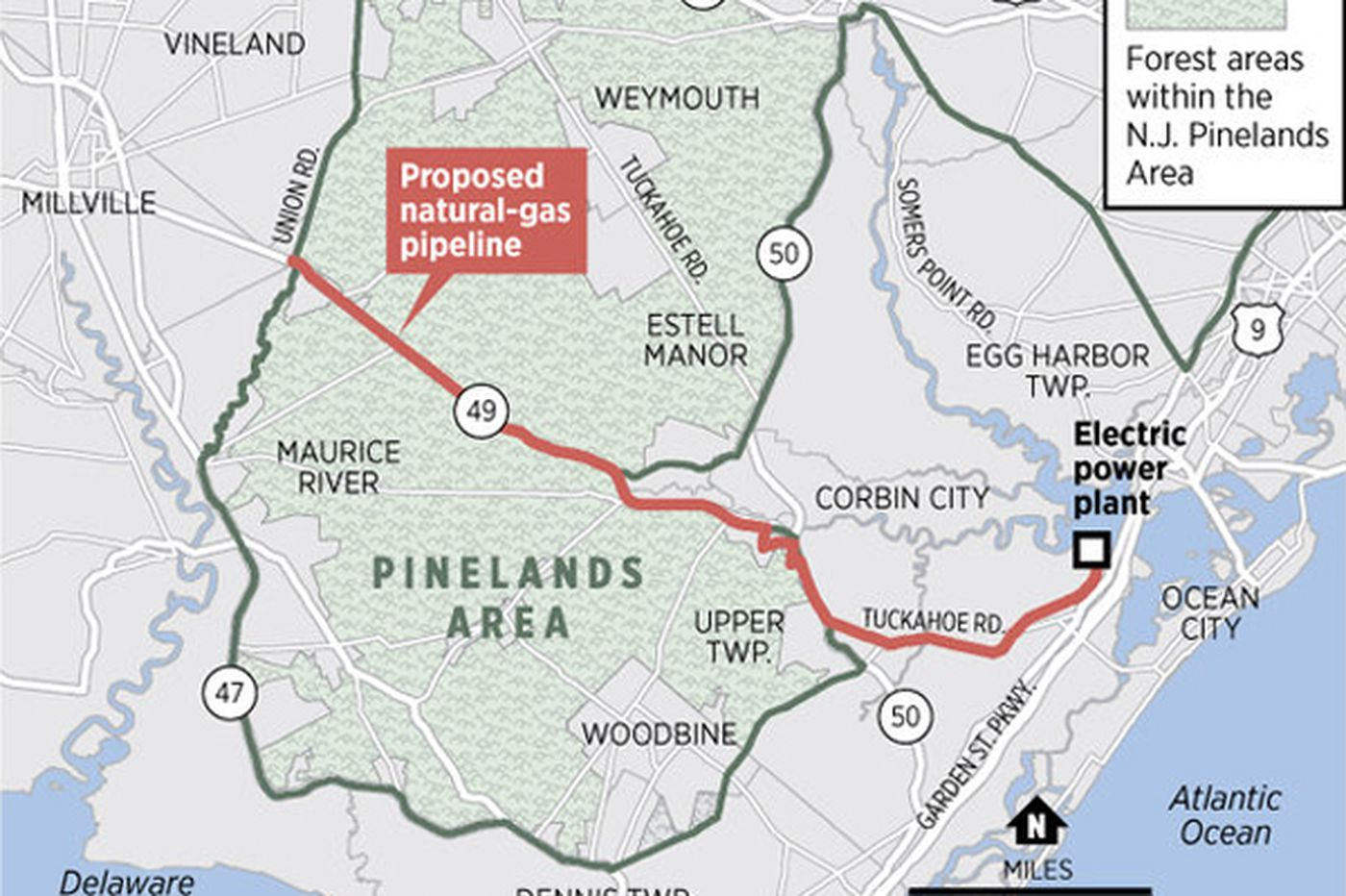 Controversial plan to build pipeline through New Jersey Pinelands appears dead