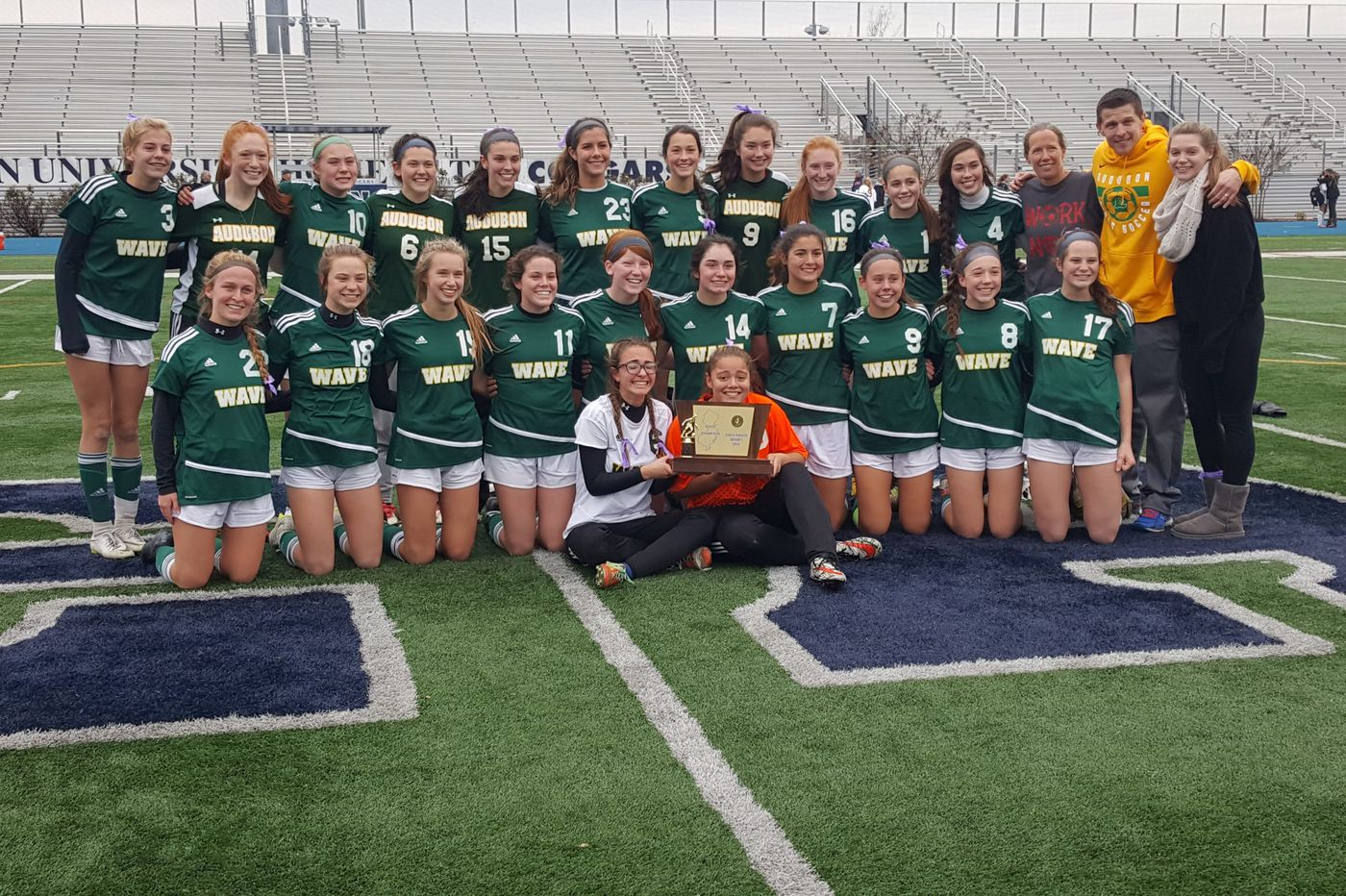 Audubon girls win first state soccer title with tough play in goal