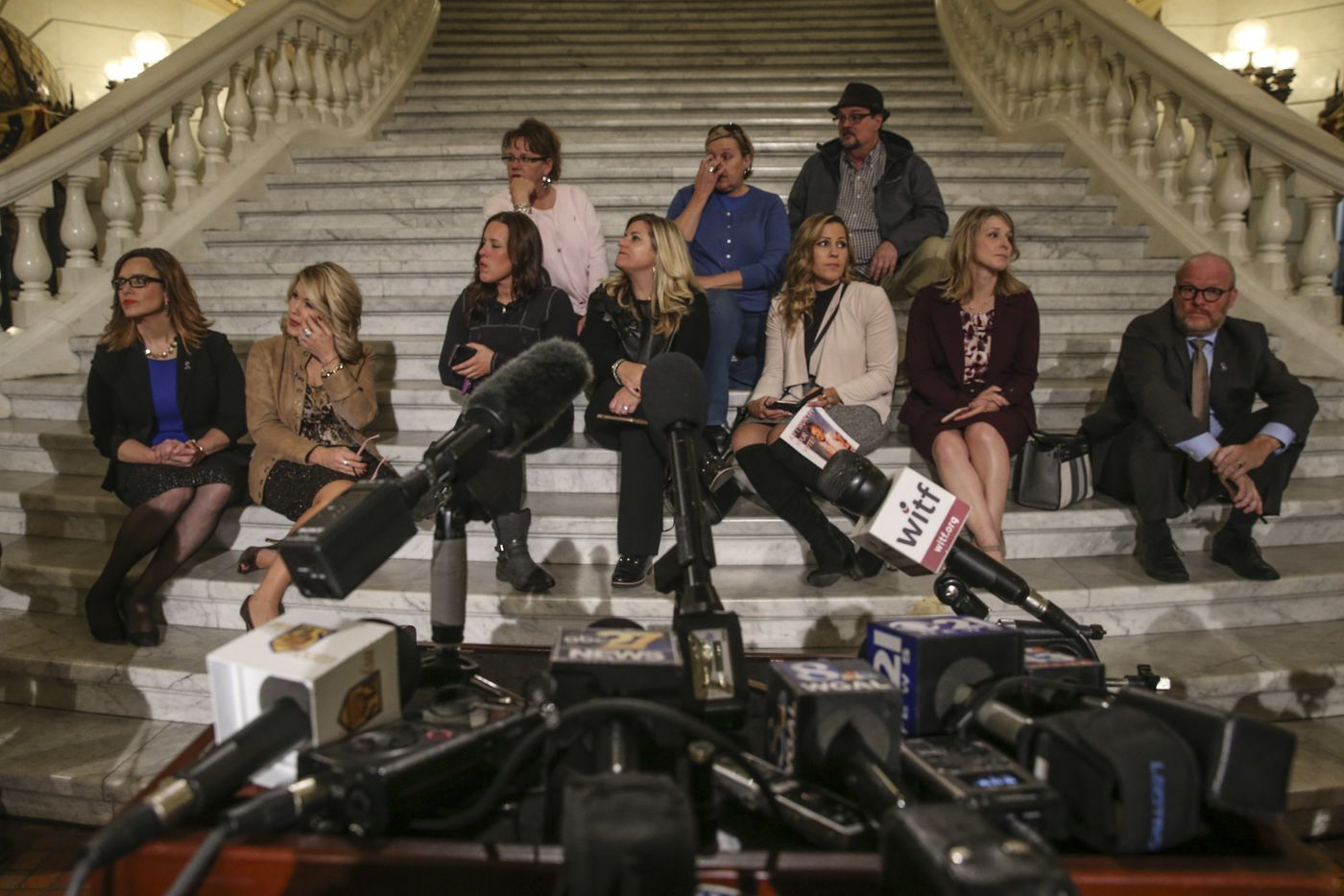 After a clergy-abuse bill collapsed in the Pennsylvania Senate late Wednesday night, victims gathered in the Capitol rotunda awaiting the arrival of Pennsylvania Attorney General Josh Shapiro.
