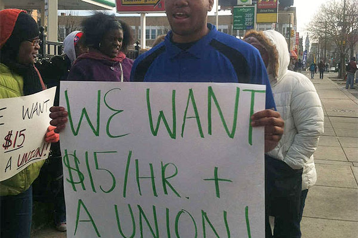 Pa. rallies call for higher wages