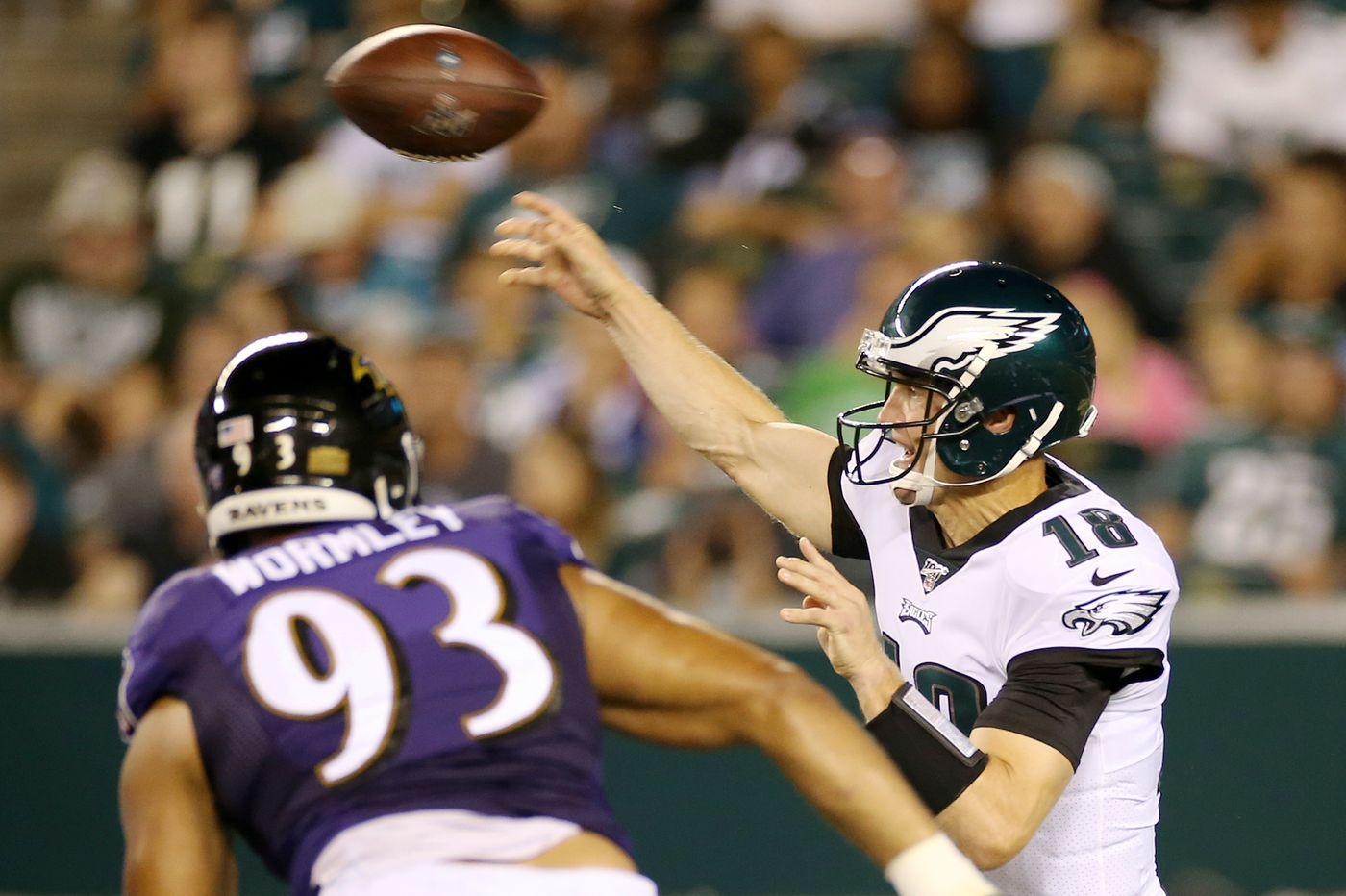 Eagles podcast: Josh McCown vs. the Ravens, debating the 53-man roster, who Joe Douglas might pick up