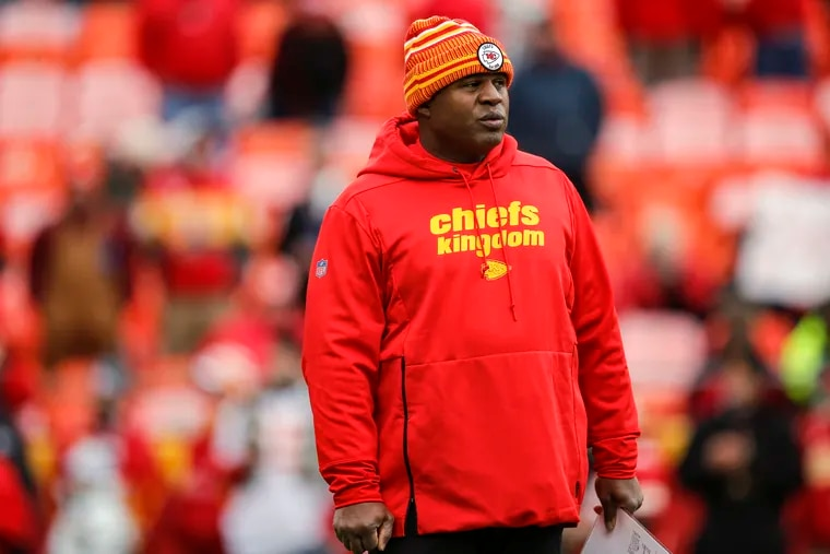 Kansas City Chiefs offensive coordinator Eric Bieniemy could be a leading candidate for many of the NFL's head coaching openings.