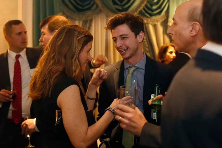 Albert Eisenberg talks to Rose DeFelice at the Reception Honoring Speaker Mike Turzai at The Waldorf-Astoria in New York on Friday, Dec. 9, 2016.  SE1YOUNG11P