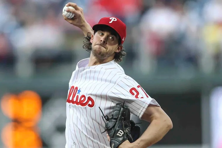 Phillies pitcher Aaron Nola, a Cy Young Award finalist, is the Philadelphia Sports Writers Association's athlete of the year.