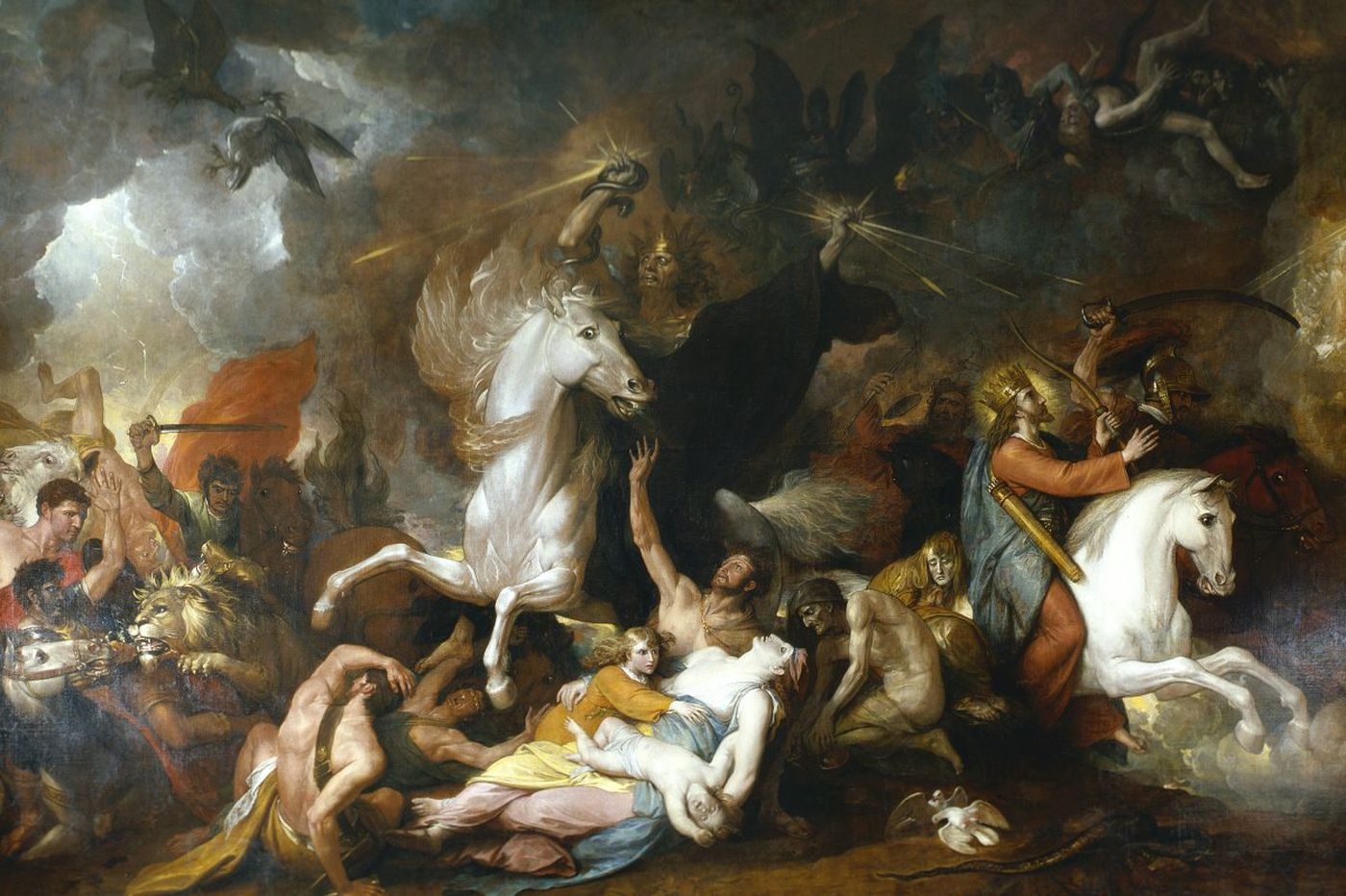Benjamin West at PAFA: 'Death is a lightning-spewing zombie on a white horse, spreading terror'
