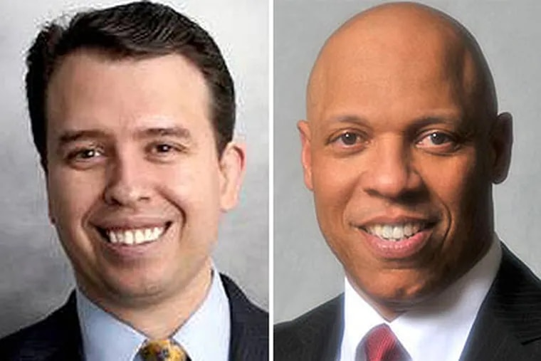 Pedro Martinez (left) and William Hite (right) are the two finalists to become the next Philadelphia school superintendent.
