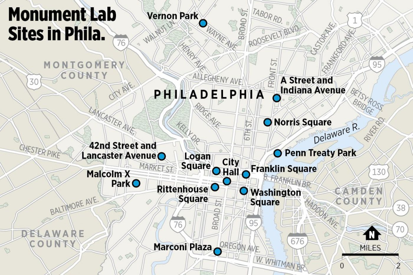 Here's where to see all the Monument Lab monuments