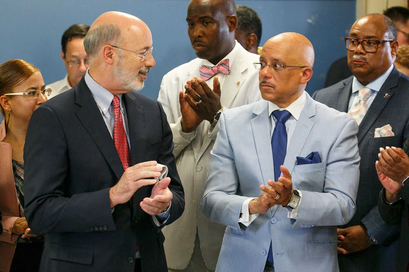 Wolf pledges millions to tackle lead paint in city schools