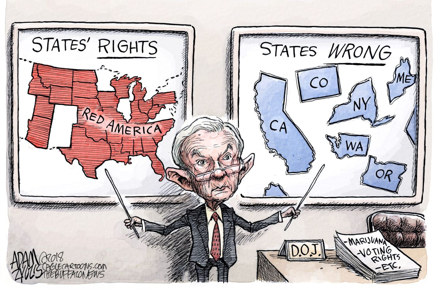 Jeff Sessions' turbulent tenure as attorney general, as seen by cartoonists | Opinion