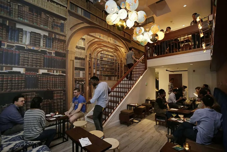"""The second-floor """"Library"""" at Writers Block Rehab, 1342 Cypress St."""