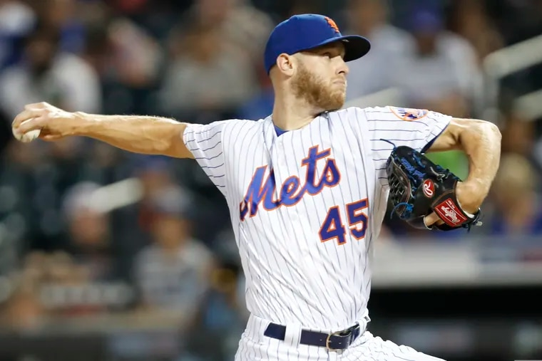 Zack Wheeler (45) agreed to a five-year contract with the Phillies on Wednesday.