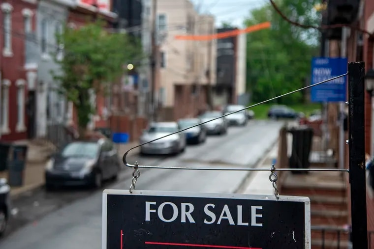 A home for sale in the 1700 block of Arlington Street in May. As struggling homeowners exit forbearance plans and resume having to make mortgage payments, some will be forced to sell their homes.