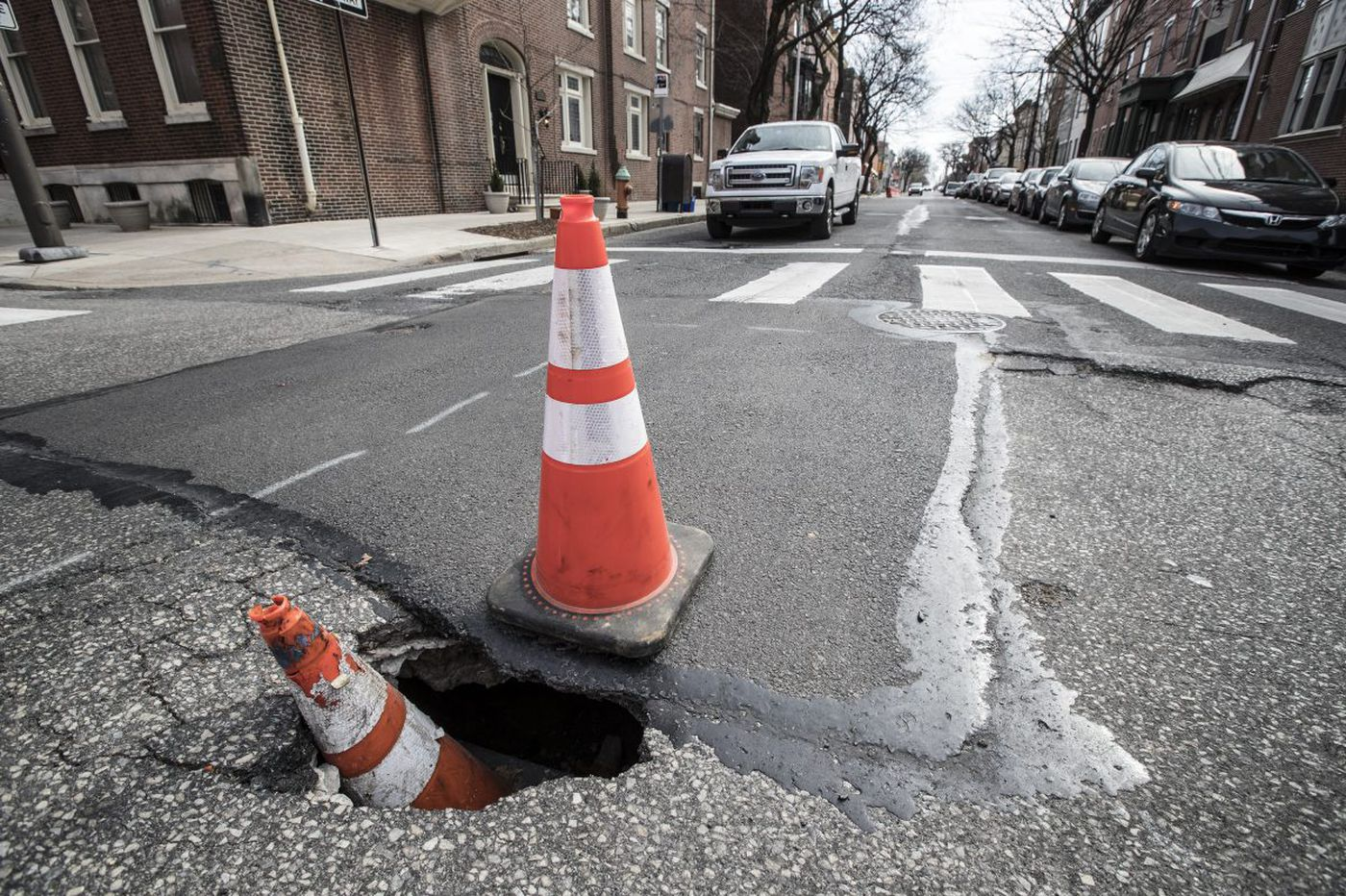 Image result for phila 34th street potholes