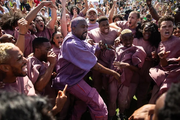 Kanye West's Easter Sunday Service during Weekend 2 of the Coachella Valley Music and Arts Festival at the Empire Polo Club on Sunday, April 21, 2019 in Indio, Calif. (Kent Nishimura/Los Angeles Times/TNS)